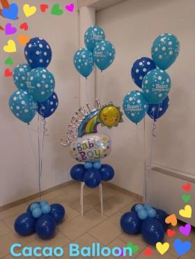 palloncini compleanno con ciuffi elio