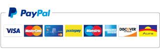 In questo sito paghi in modo ancora più sicuro con PayPal