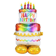 Palloncino fai da te forma a TORTA Happy Birthday
